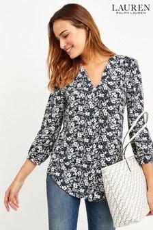 Lauren Ralph Lauren® Navy Floral Shirt