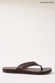 Abercrombie & Fitch Brown Flip Flops