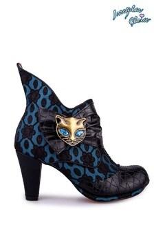 Irregular Choice Black Miaow Boots