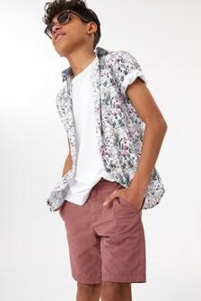 Floral Short Sleeve Shirt (3-16yrs)