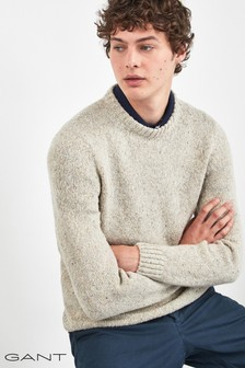 GANT Brown Neps Knit Crew