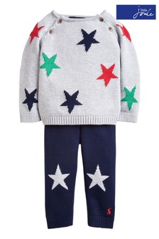 Joules Grey George Knitted Set