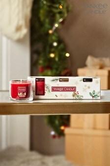 Set of 3 Yankee Candle Christmas Mini Candles Gift Set