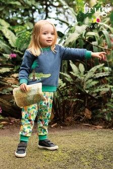מכנסיים ללא-שרוכים בסגנון שרוואל עם הדפס ג׳ונג׳ל של Frugi Organic