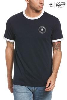 Original Penguin® Blue Stamp Logo Ringer T-Shirt