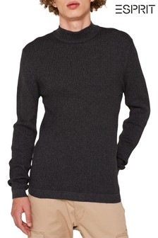 Esprit Grey Muscle Turtle Knitted Jumper