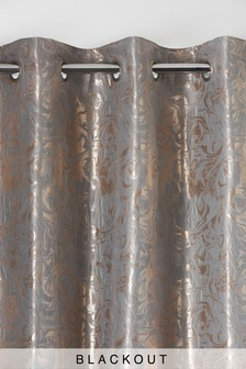 Jacquard Marble Eyelet Curtains