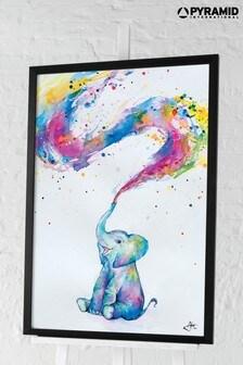 Pyramid Marc Allante Spring Elephant Framed Poster