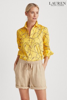 Lauren Ralph Lauren® Yellow Chain Print Jamelko Blouse