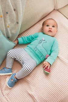 2 Piece Bright Unicorn Sweater Set (0mths-2yrs)