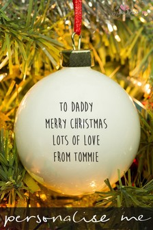 Personalised Daddy Bauble by Signature PG