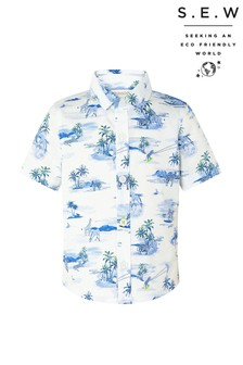 Monsoon Cream S.E.W. Alika Animal Shirt
