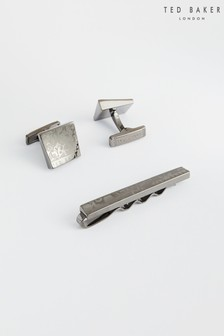 Ted Baker End Cufflink And Tie Bar Gift Set