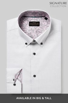 Signature Textured Shirt With Trim Detail