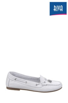 Riva White Ostuni Slip-On Tassle Shoes