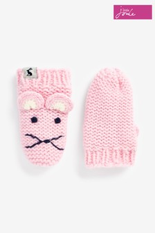 Joules Pink Chumy Mittens