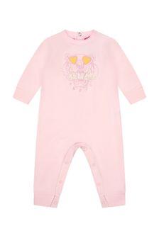 Kenzo Kids Baby Girls Pink Cotton Romper