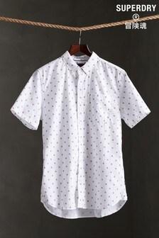 Superdry White Print Short Sleeve Shirt