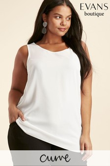 Evans Curve Ivory Layered Camisole