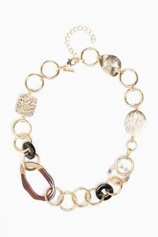 Resin Links Short Necklace