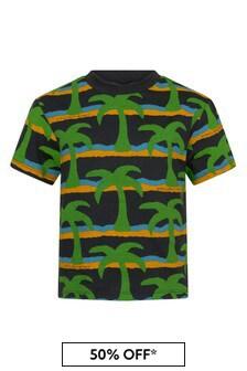 Stella McCartney Kids Boys Black Cotton T-Shirt