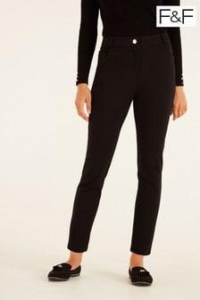 F&F Black Ponte Skinny Trousers