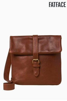 FatFace Brown Felicity Fold Detail Cross Body Bag