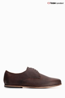 Base London® Brown Senna Emboss Leather Bown Lace-Up Shoes