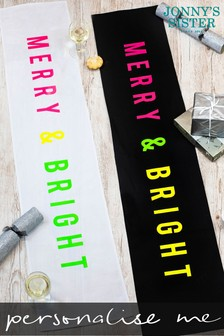 Personalised Neon Table Runner by Jonnys Sister