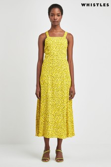 Whistles Yellow Leopard Dress