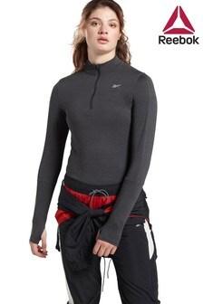 חולצת ריצה עם רוכסן 1/4 של Reebok