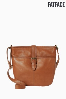 FatFace Brown Harper Buckle Detail Cross Body Bag