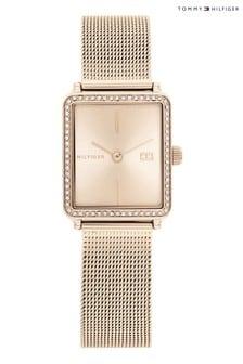 Tommy Hilfiger Gold Tone Mesh Bracelet Watch