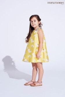 Hucklebones Yellow Floral Shift Dress