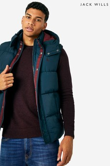 Jack Wills Navy Firstone Gilet
