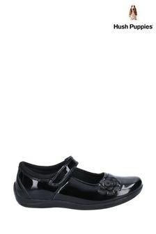 Hush Puppies Black Jessica Junior School Shoes
