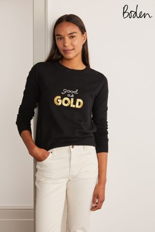 Boden Black Estella Jumper