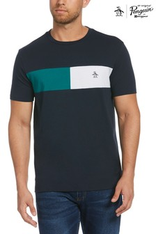 Original Penguin® Blue Colourblock Chest Stripe T-Shirt