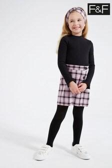 F&F Black Skirt Set