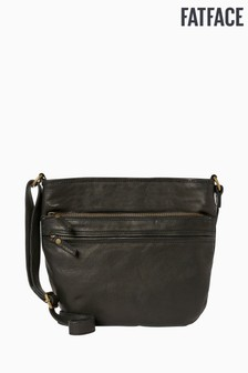 FatFace Black Harper Double Zip Cross Body Bag