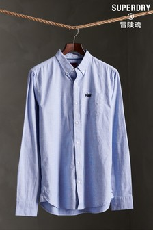 Superdry Light Blue Long Sleeve Shirt