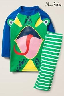 Mini Boden Green Surf Suit