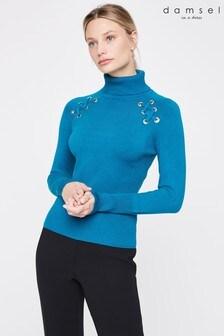 Damsel In A Dress Blue Angelo Eyeley Knit Jumper