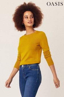 Oasis Yellow Celina Scallop Jumper