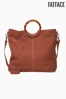 FatFace Brown Holly Hoop Detail Tote Bag