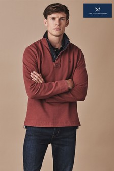 Crew Clothing Red Padstow Pique Sweatshirt