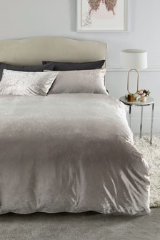 Ombre Velvet Duvet Cover And Pillowcase Set