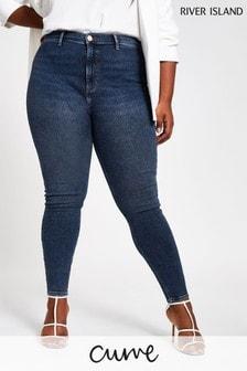 River Island Blue Kaia Grande Skinny Jeans