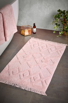 Pink Global Bath Mat