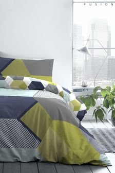 Hexagon Easy Care Duvet Set by Fusion